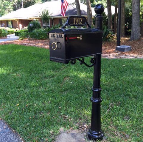 Black Mailbox Powder Coated