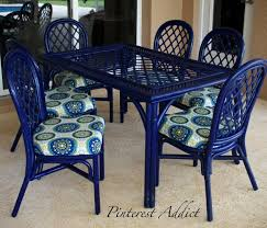 Customized blue patio chairs