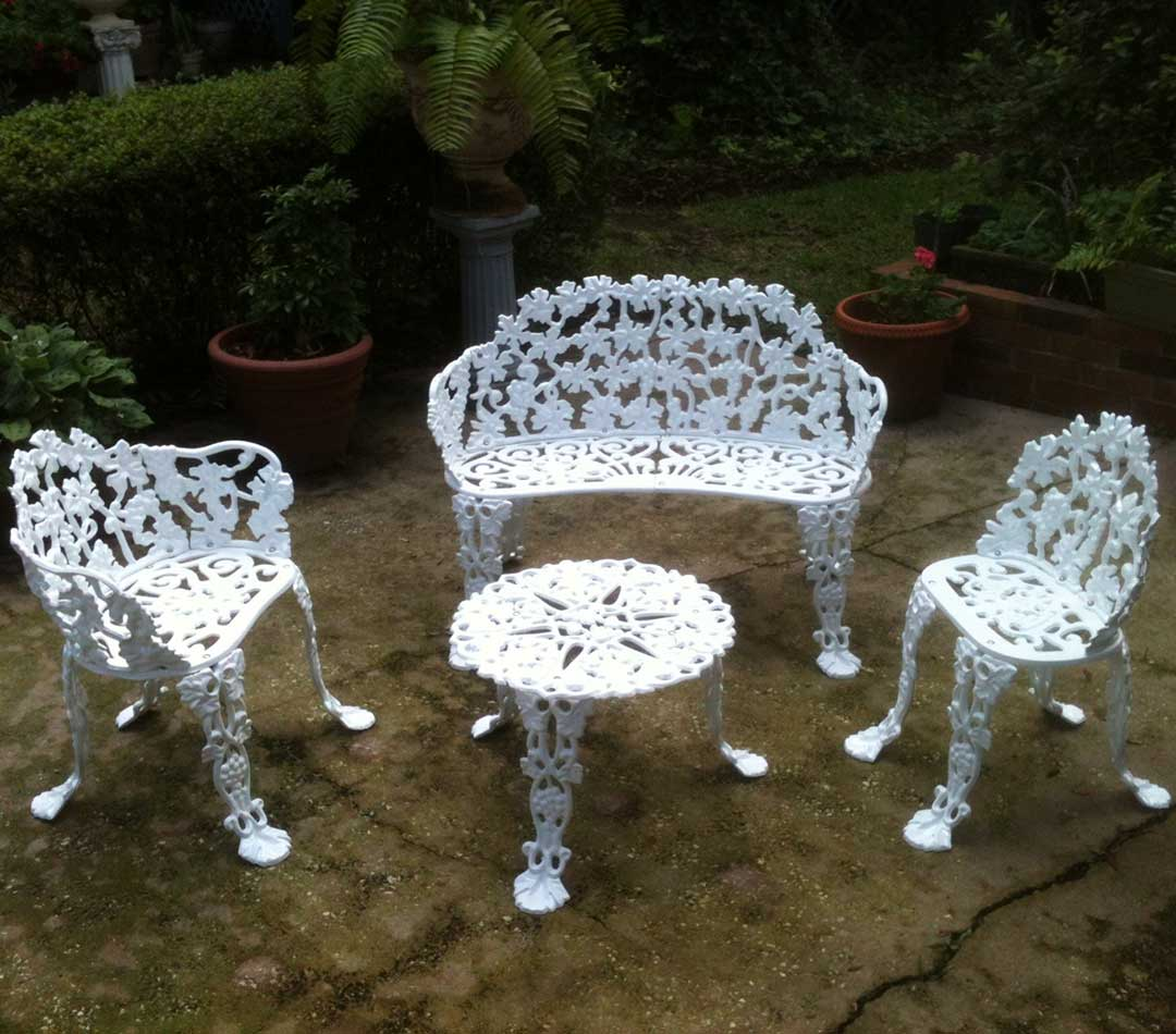 Patio Furniture Powder Coated White