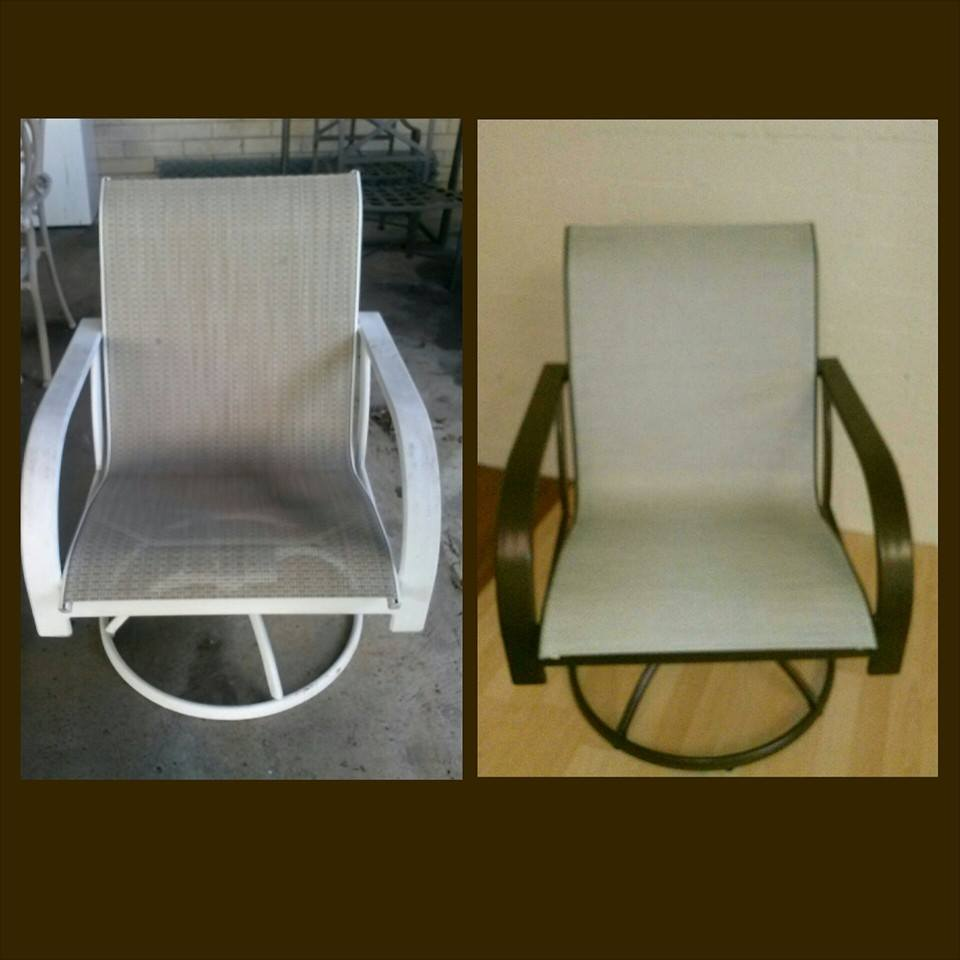 Before and after reslung chair makeover