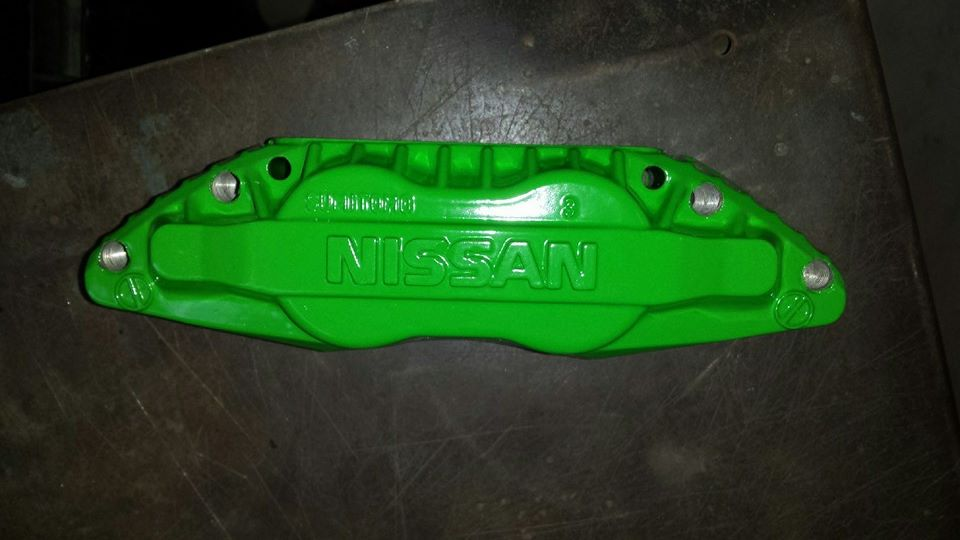 brake caliper green powder coated