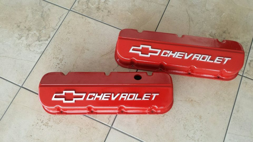 Chevy Engine Part Red powder coated