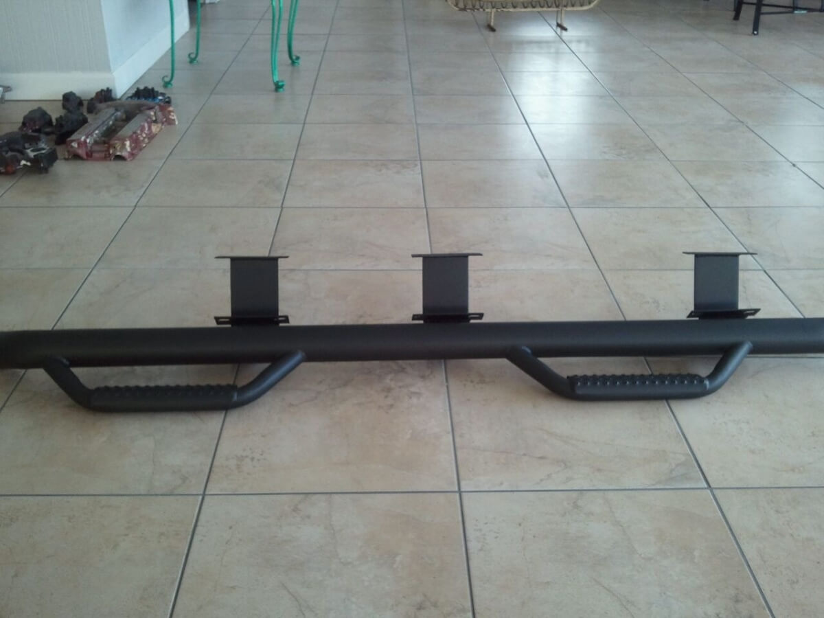 Auto Bar- Side Step Powder Coated Black