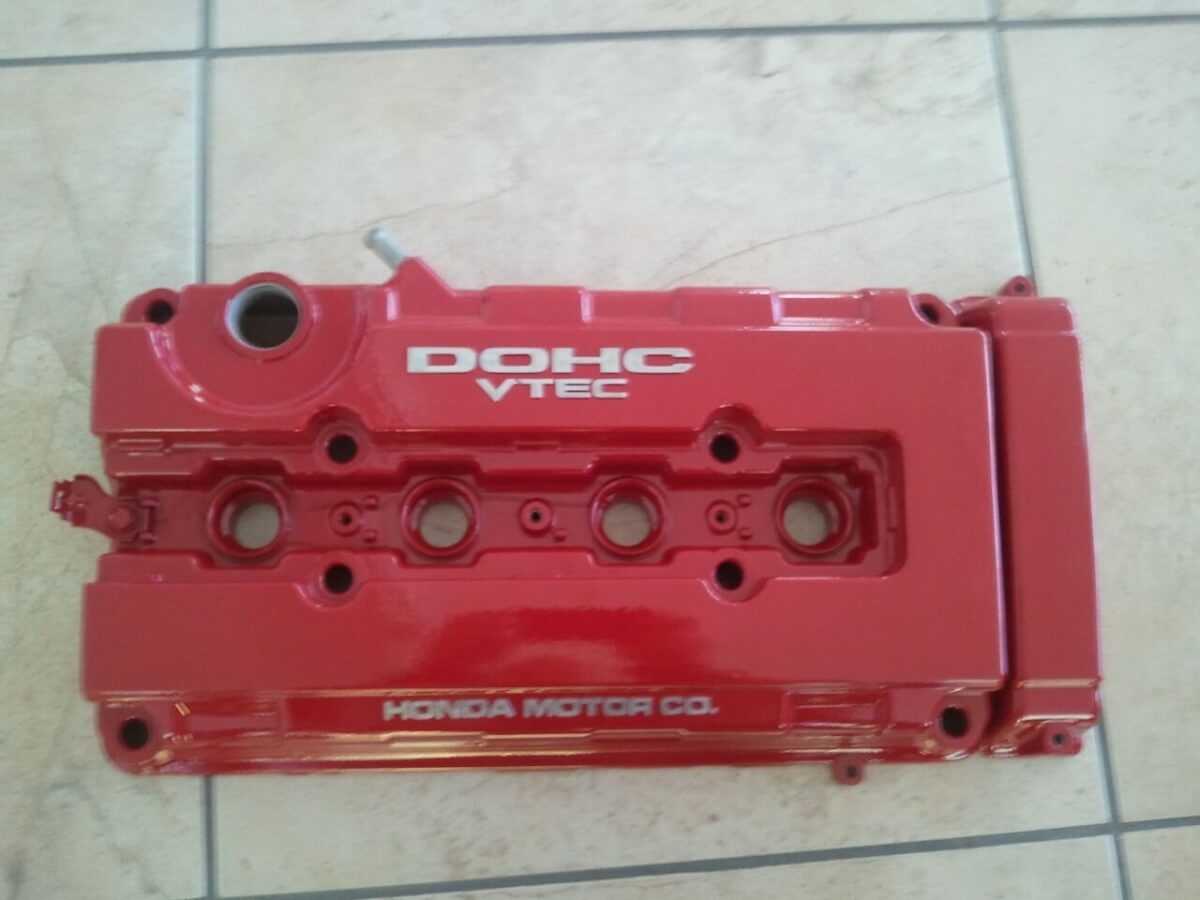Cam Shaft Powder Coated Red