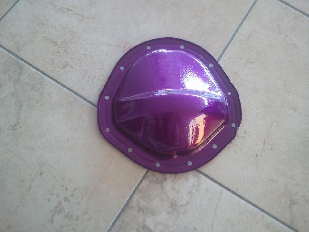Purple Axle Cover Powder Coated