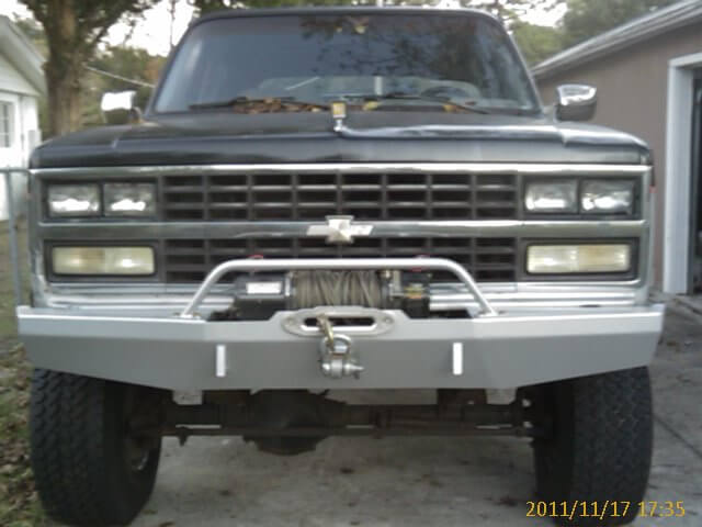 Chevy Bumper powder coated
