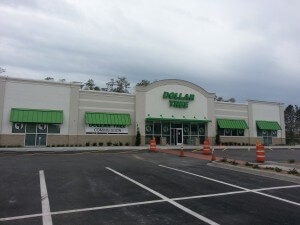 Dollar Tree Awning powder coated