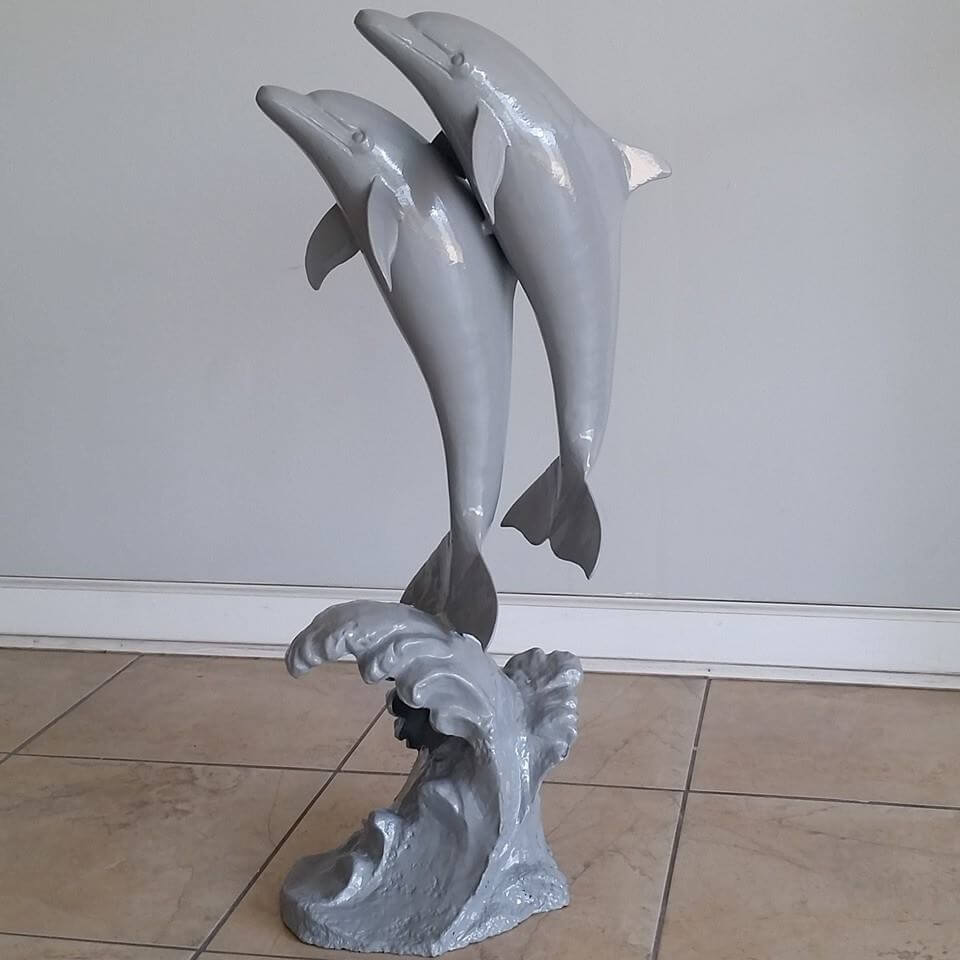 Dolphins powder coated