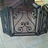 Fireplace Cover powder coated