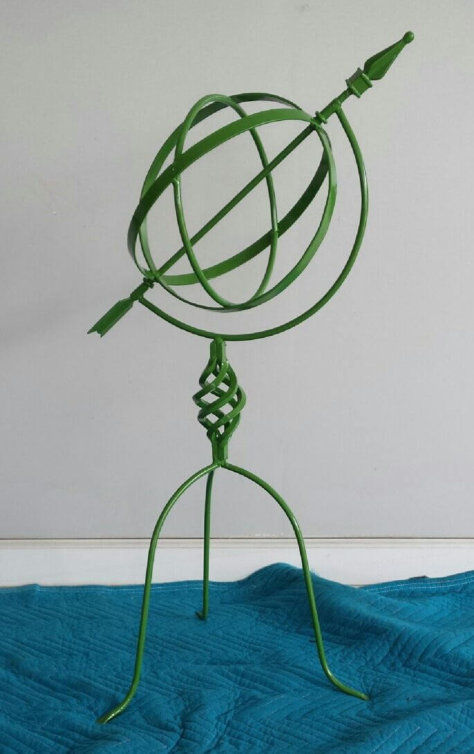 garden accessory powder coated green