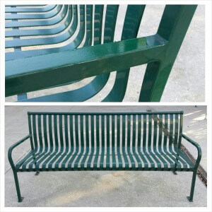 Green Bench powder coated