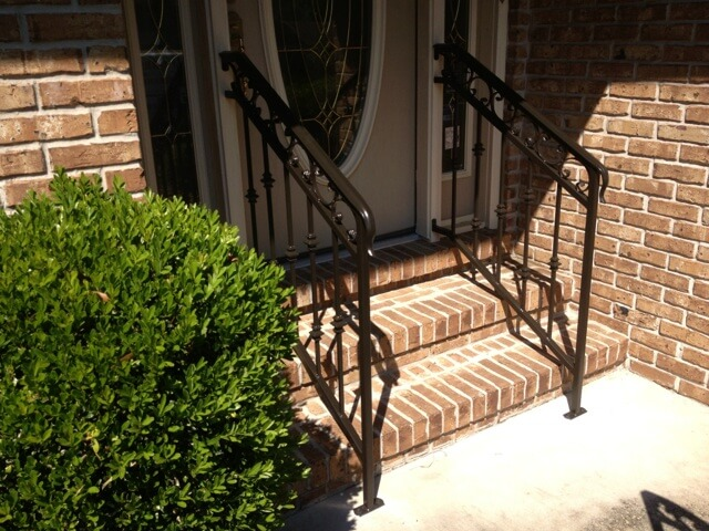 Porch railing black powder coated