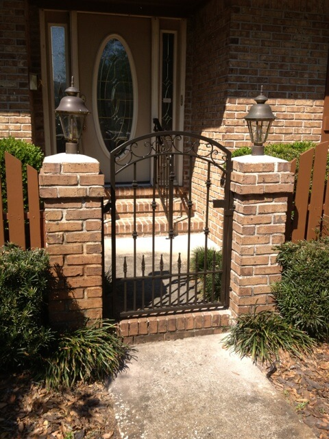 Brick Gate black powder coated