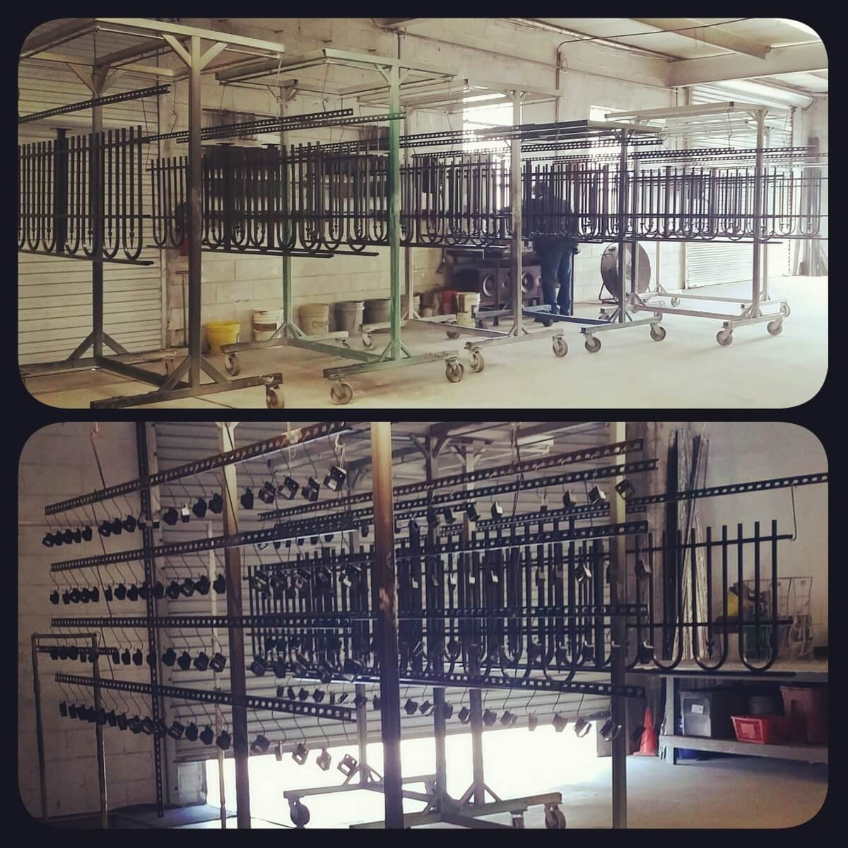 Bulk Powder Coating Racks