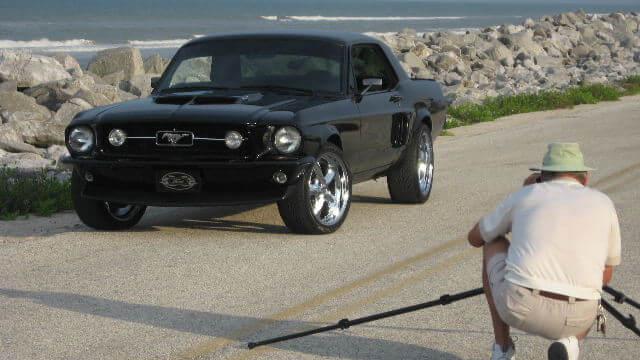 Mustang powder coated