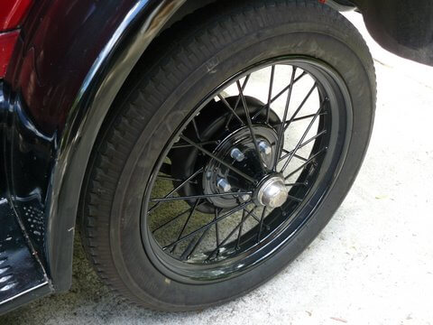Old Ford Wheel powder coated