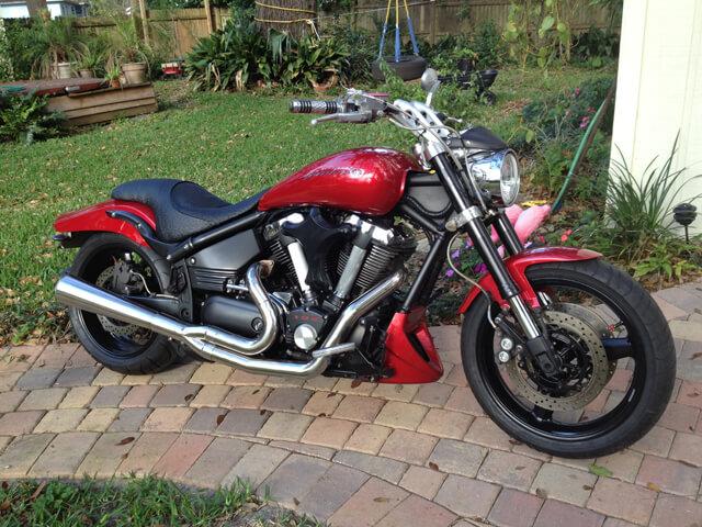 Motorcycle powder coated