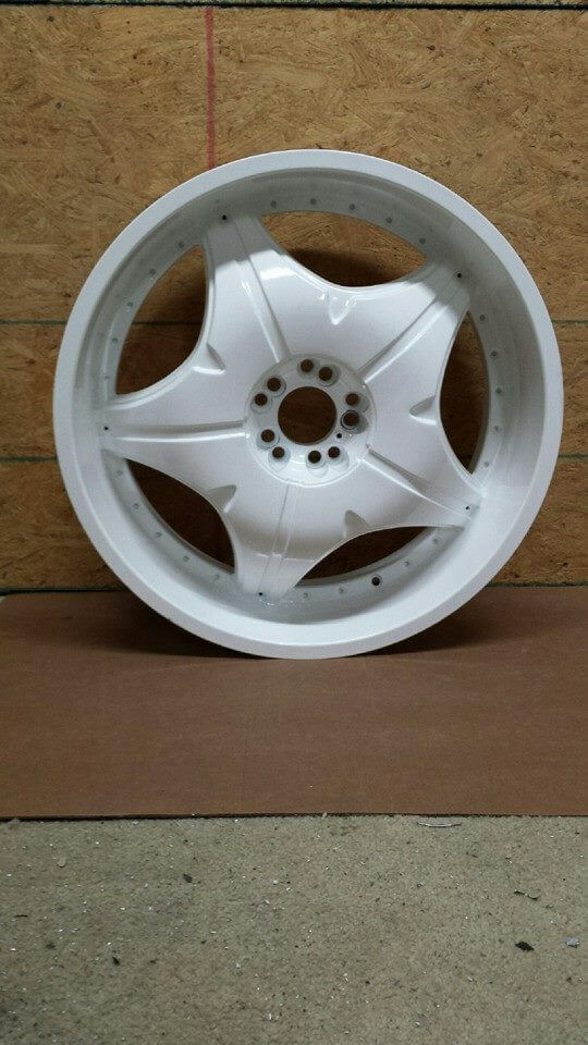 White Rim powder coated