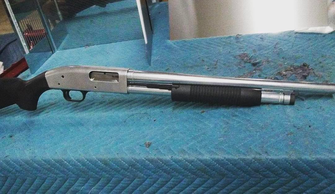 Cerakote Gun Silver Shotgun