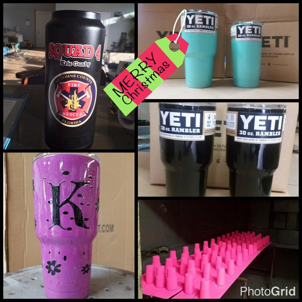 Yeti powder coated cups