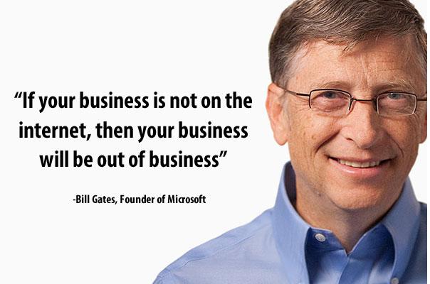 Bill gates dice que debes tener una página web para tu negocio