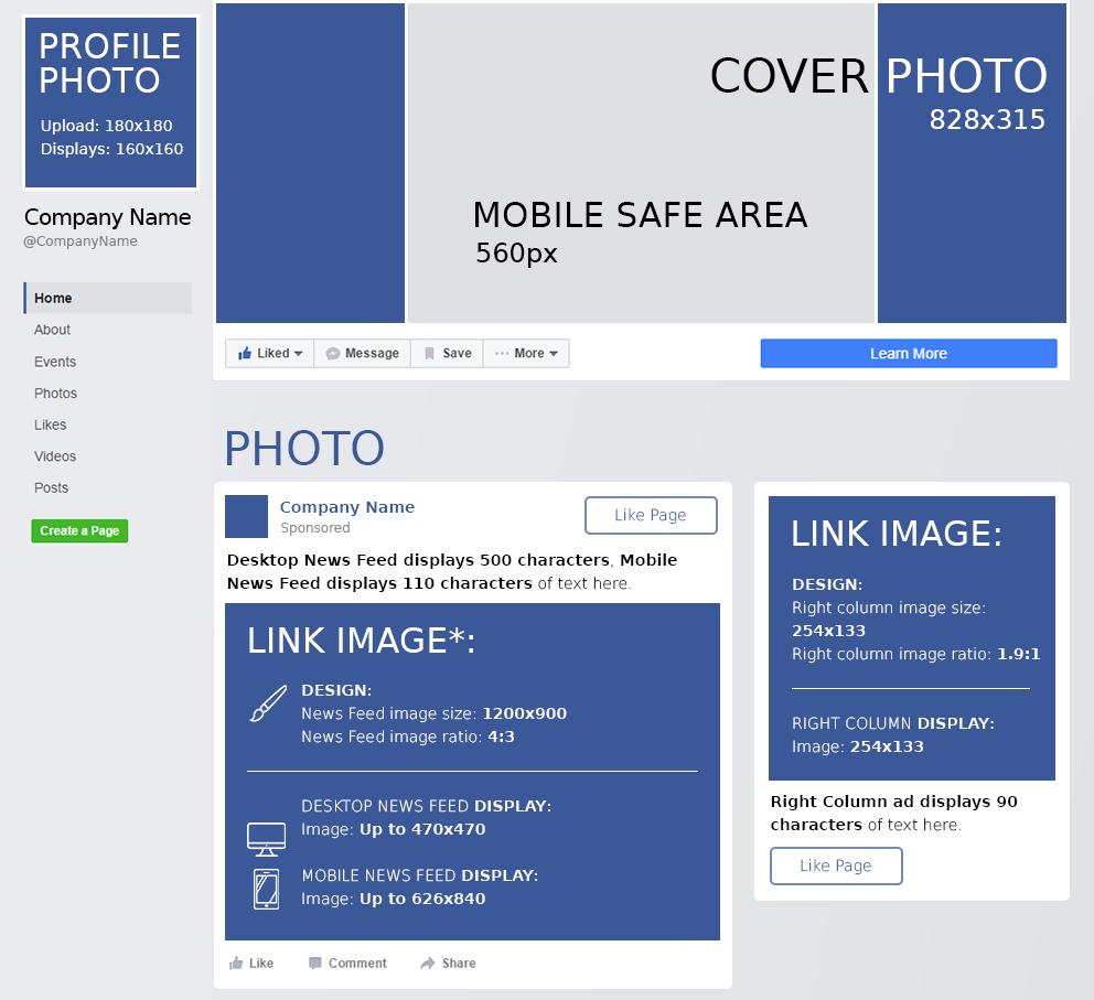 medidas de imágenes para redes sociales 2019
