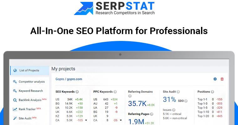 SERPStat es una de nuestras mejores herramientas SEO para 2019