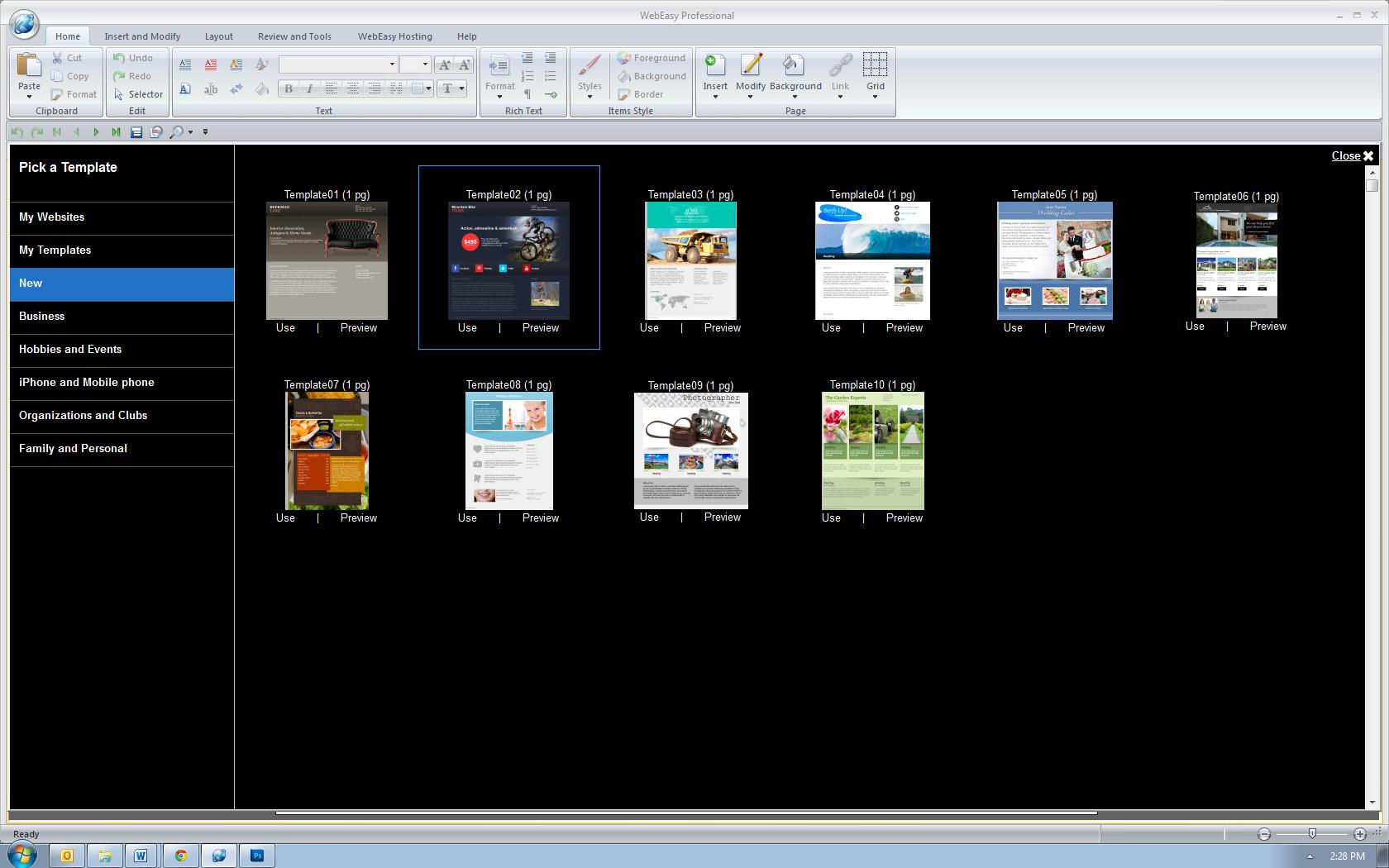 Avanquest WebEasy Professional es otro favorito al momento de escoger softwares de diseño web