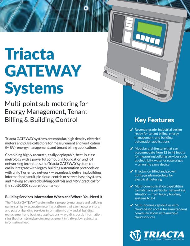 Triacta GATEWAY Brochure Image
