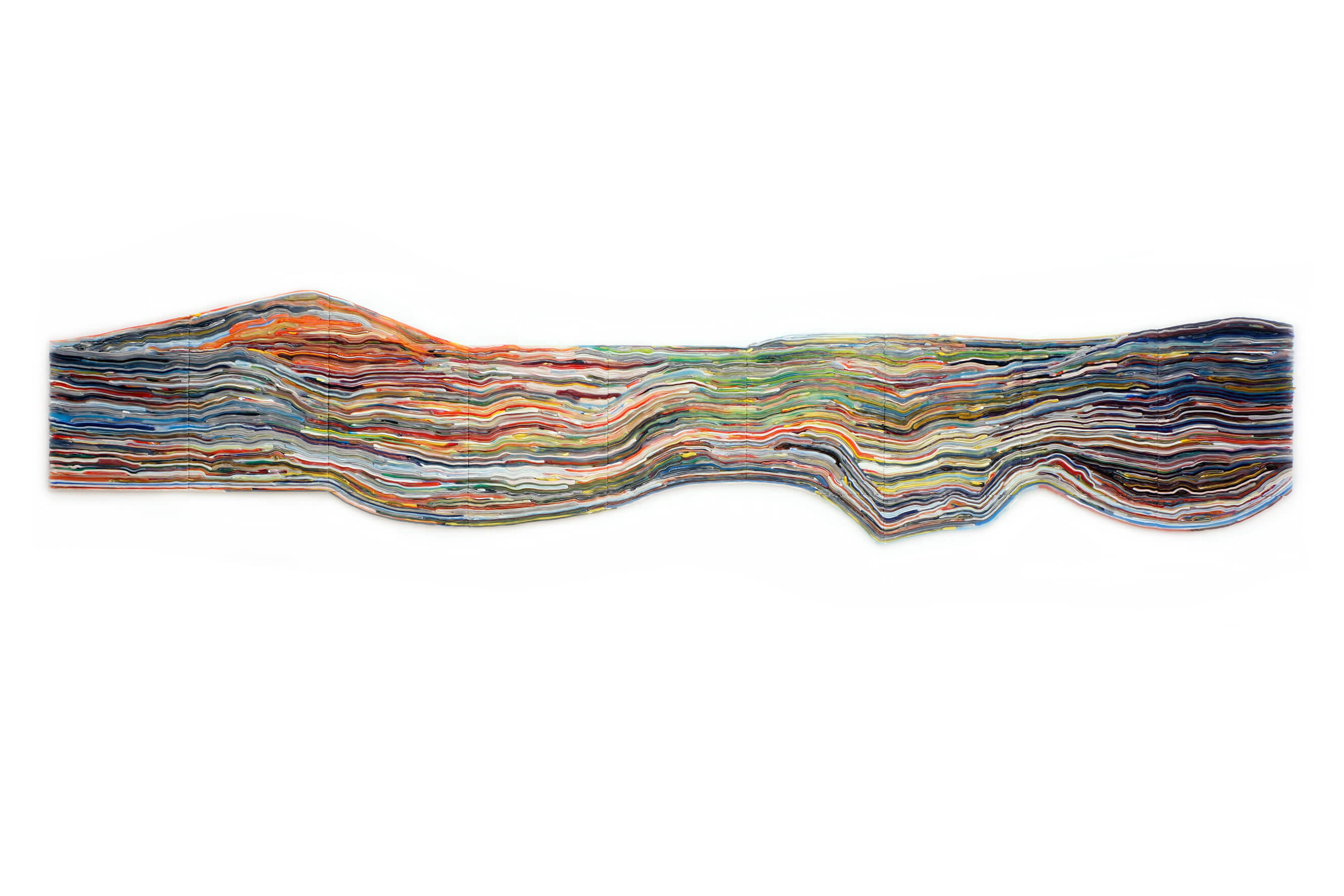 Shaped Stripe Painting, 2016