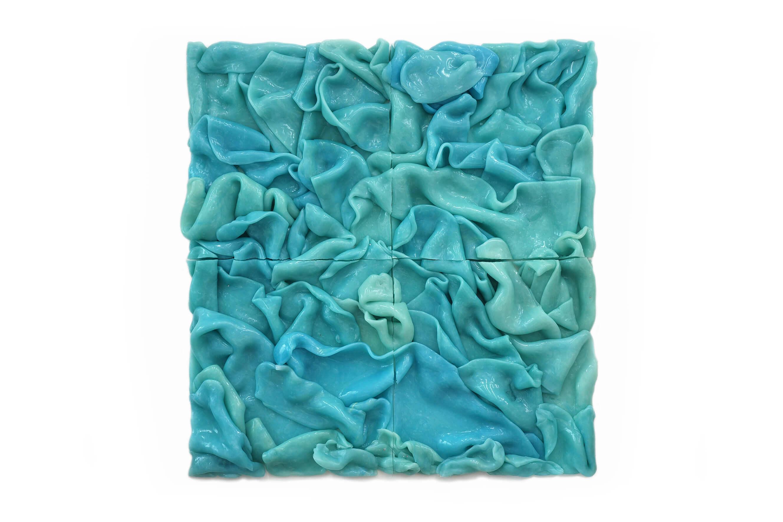Flake Painting Blue, 2012