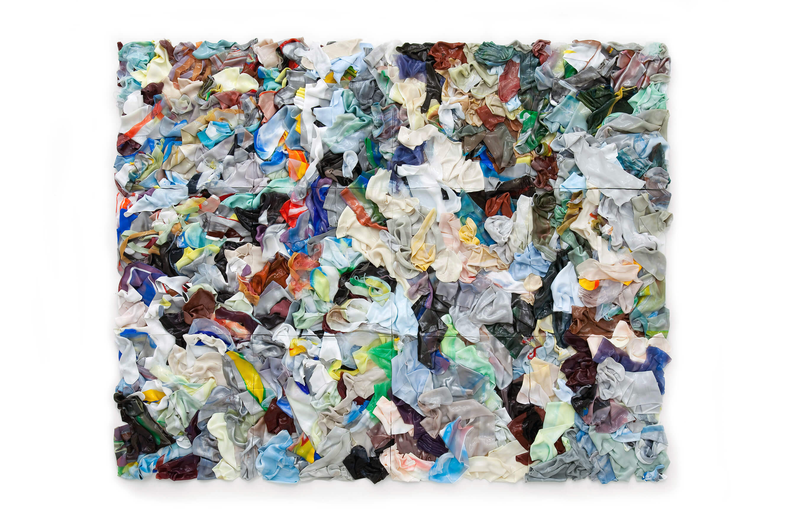 #1002 (Flake Duodecaplet) (Piled Painting), 2010/12