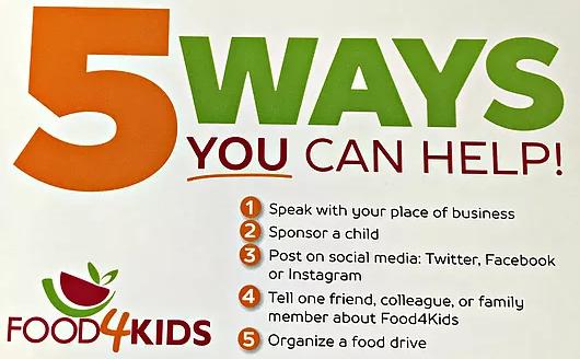 5 Ways You Can Help | Food 4 Kids
