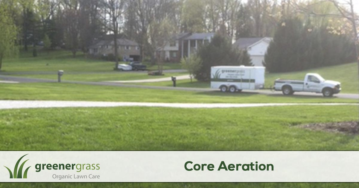 Lawn Aeration Services in Canton, North Canton, and Green Ohio
