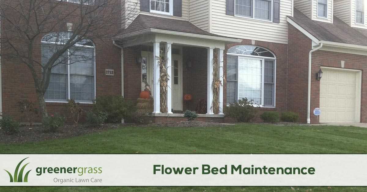 Flower Bed Maintenance in Canton, North Canton, and Green Ohio.