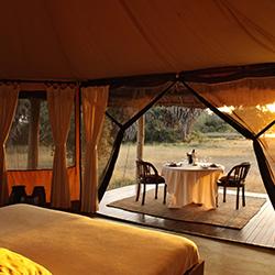 Siwandu tents view