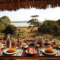 Breakfast next to Lake Nzerakera Siwandu