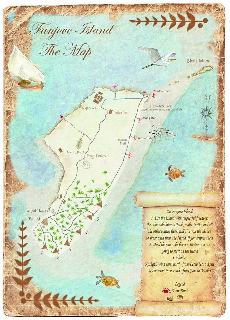 Fanjove Island map