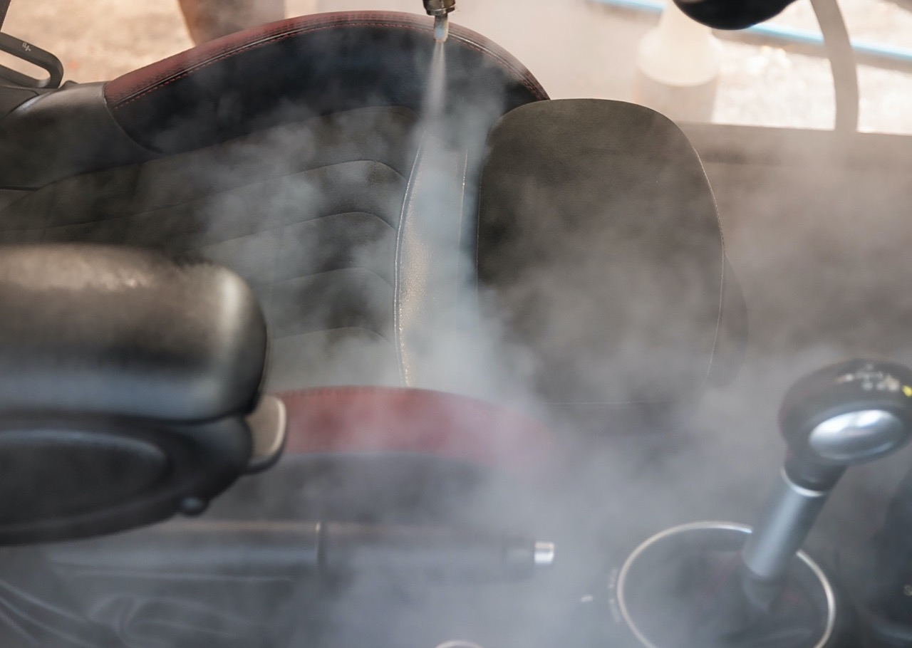 Car Interior Deep Cleaning with Steam Cleaner