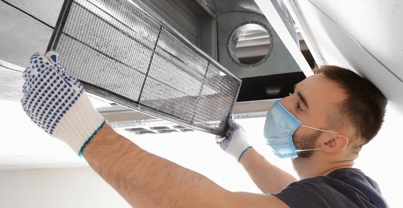 HVAC system maintenance and cleaning with steam