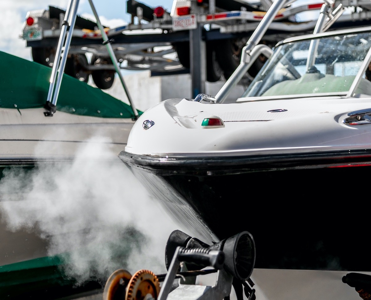 How utilize steam for cleaning of different transports