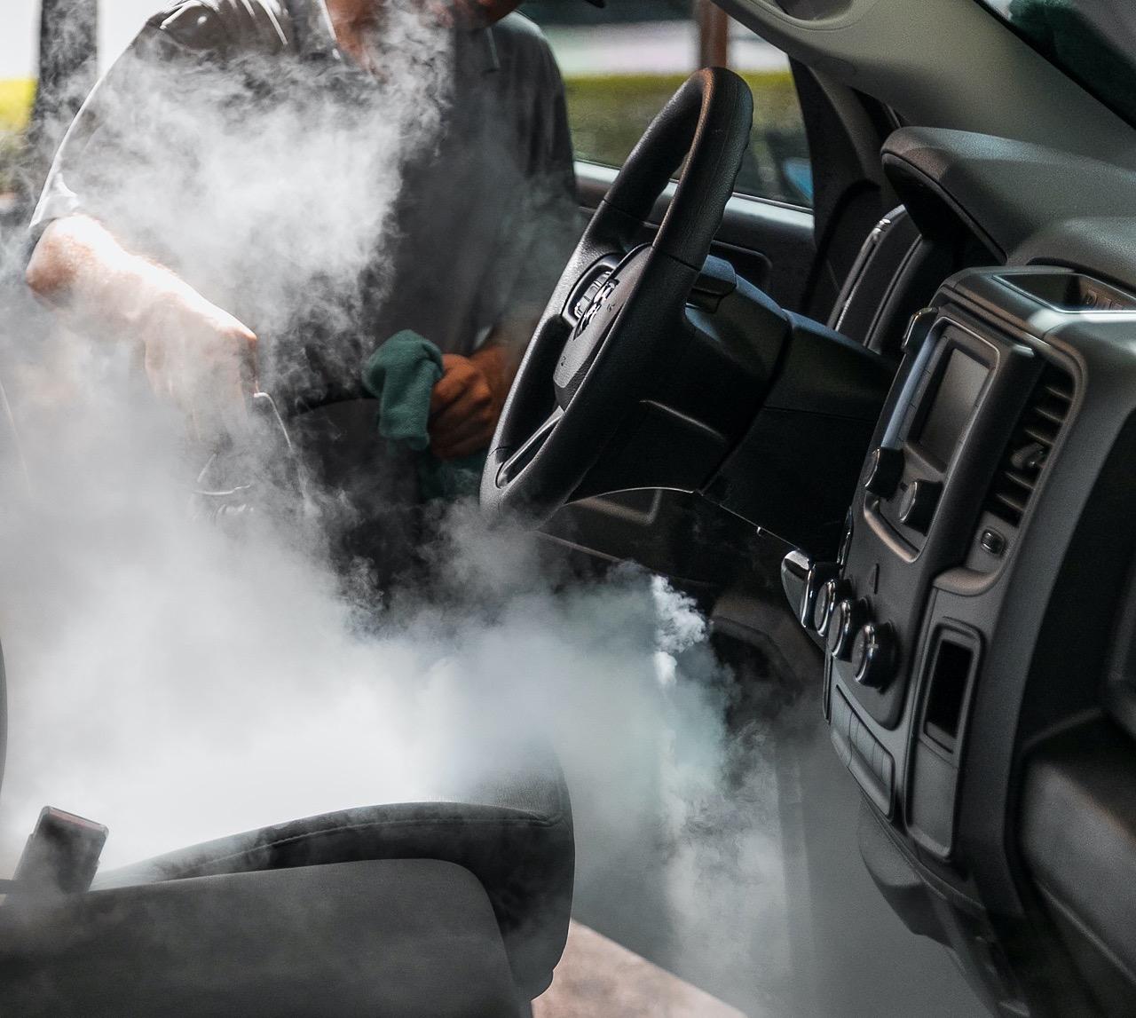 Using Steam for Sanitizing of Fleet cars