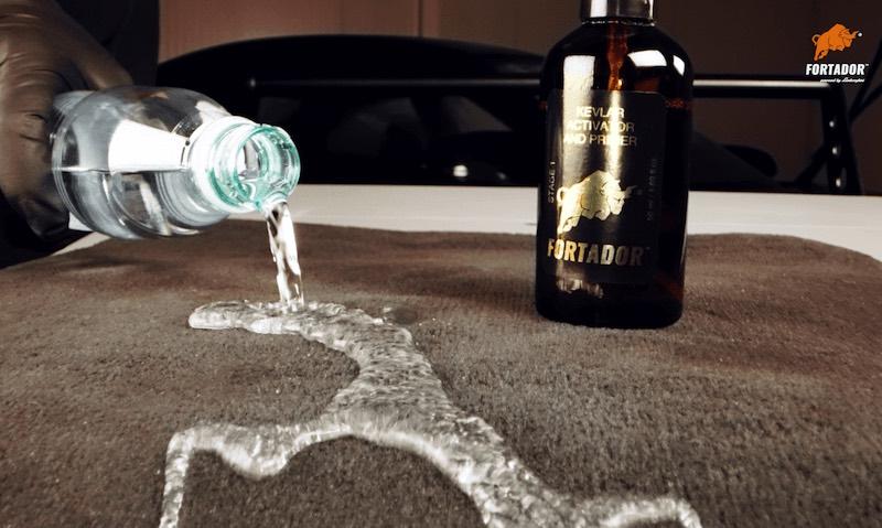 water repel from car carets protected with kevlar ceramic car coating