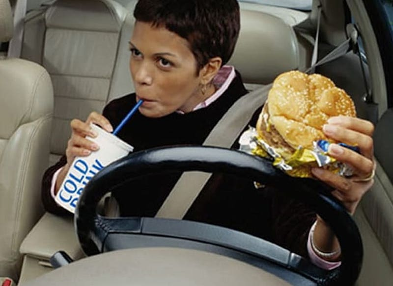 eating inside the car is one of the resaons to get roaches