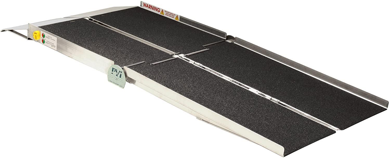 Heavy duty Portable Multi-Fold Reach Ramp for steamer loading