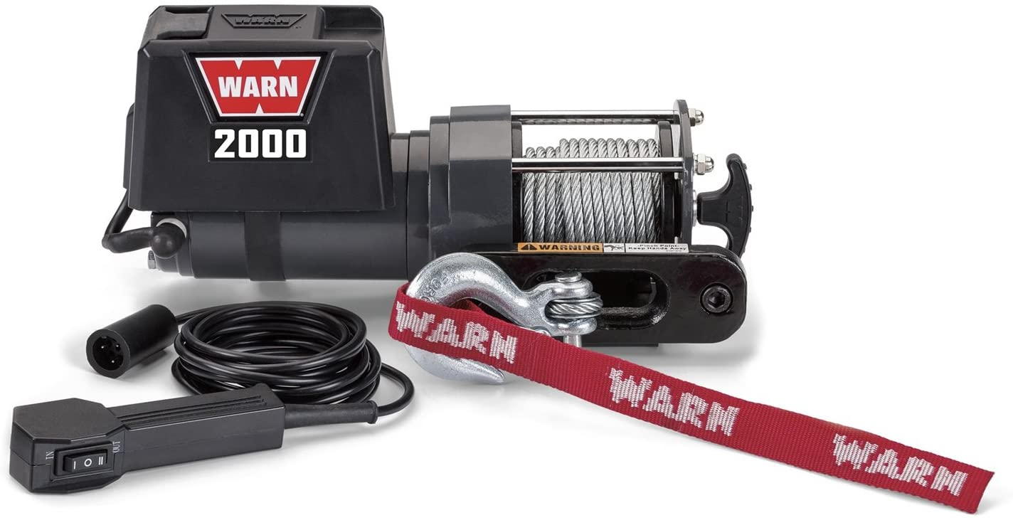 Electric Winch 12V with Steel Cable for easy loading steamer WARN 92000