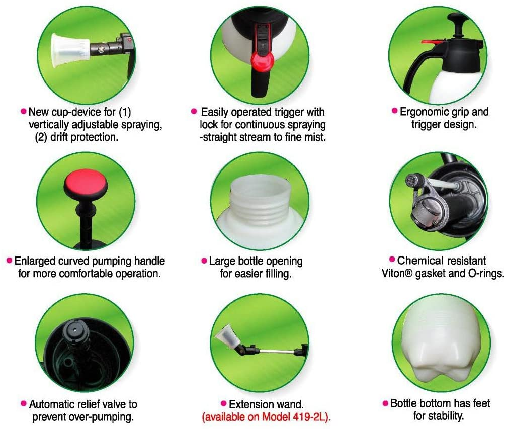 Sprayer for auto detailing and car wash with hand pump Solo 418, 1-L