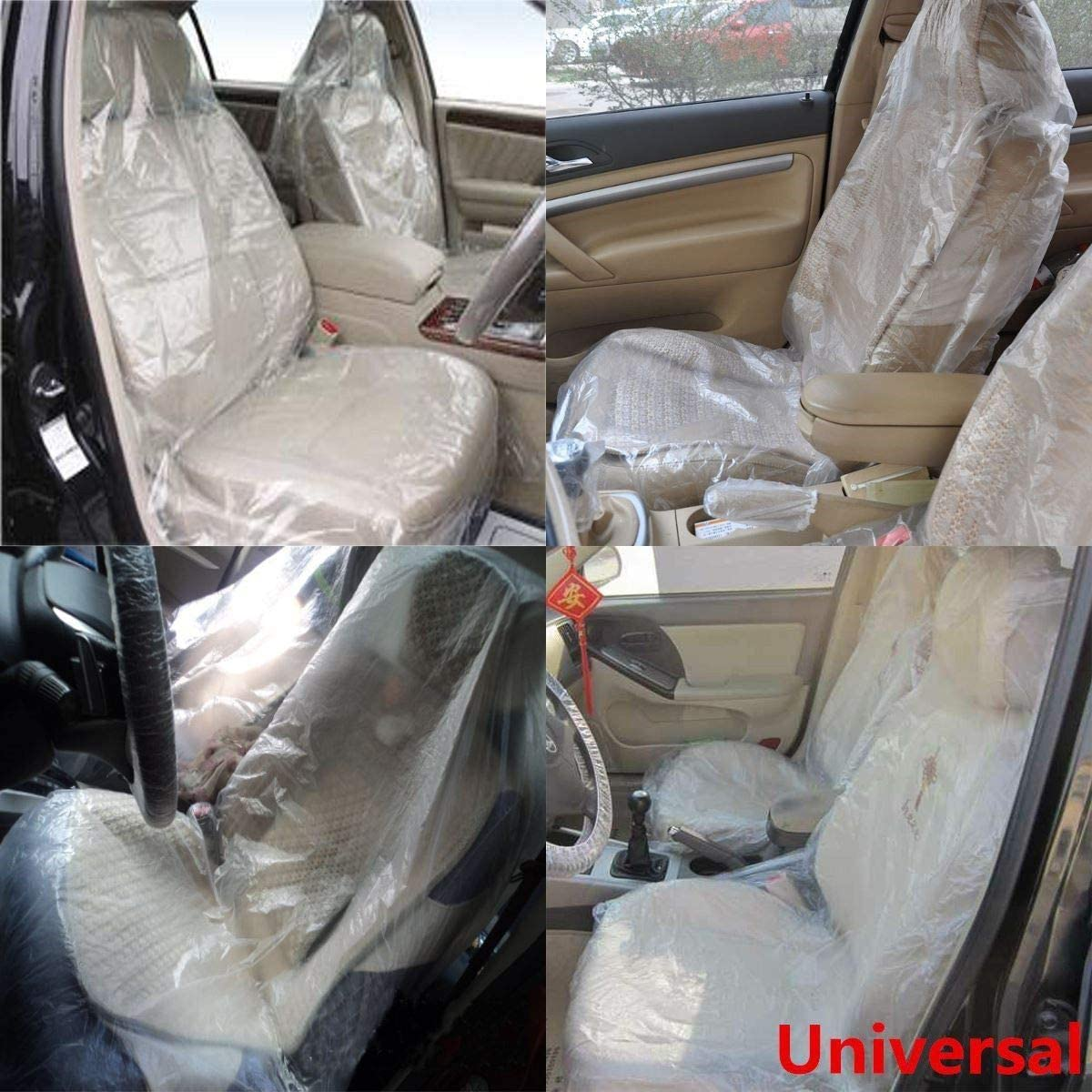 Plastic Car Seat Covers Disposable Clear Protector Mechanic Valet Free