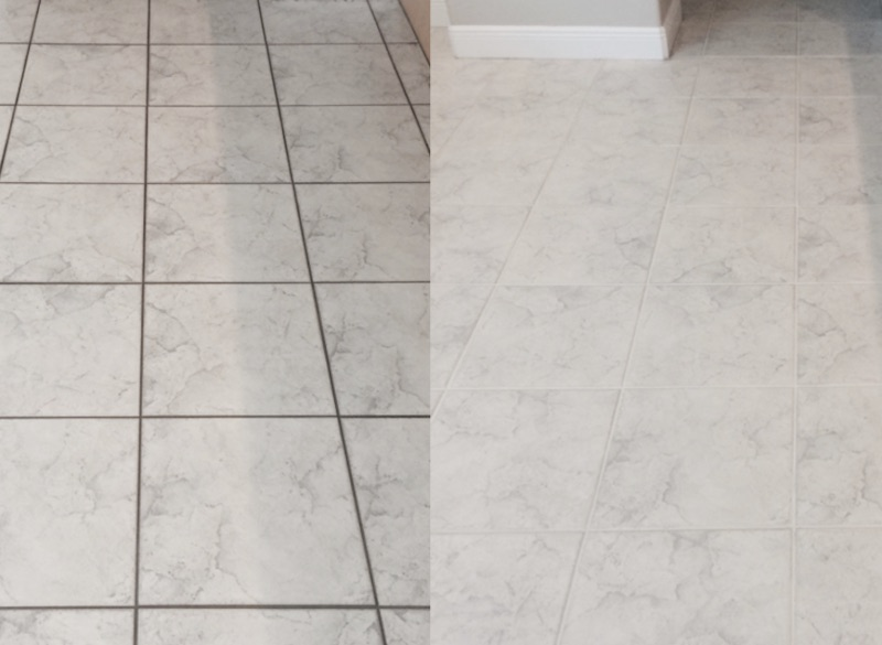before and after tiles clesaning