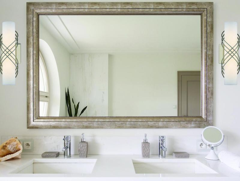bathroom mirror and lighting